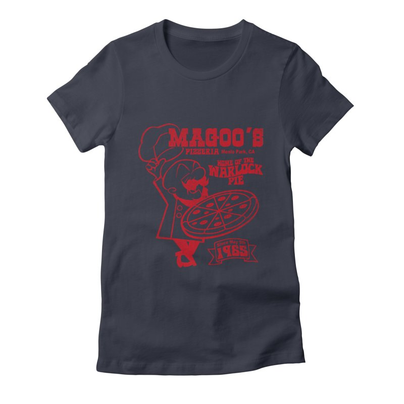 Magoo's Pizzeria Women's Fitted T-Shirt by Rocks Off Designs