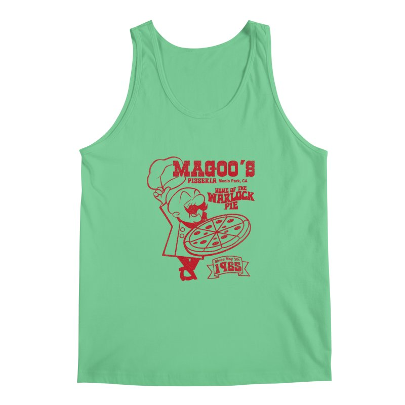 Magoo's Pizzeria Men's Regular Tank by Rocks Off Designs