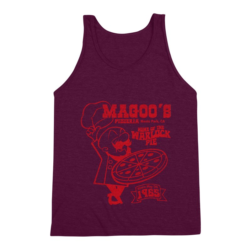 Magoo's Pizzeria Men's Triblend Tank by Rocks Off Designs