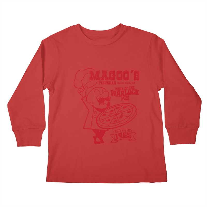 Magoo's Pizzeria Kids Longsleeve T-Shirt by Rocks Off Designs