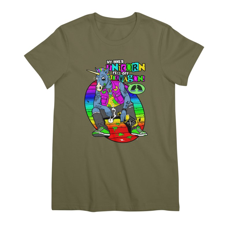 My Inner Unicorn Women's Premium T-Shirt by Rocks Off Designs