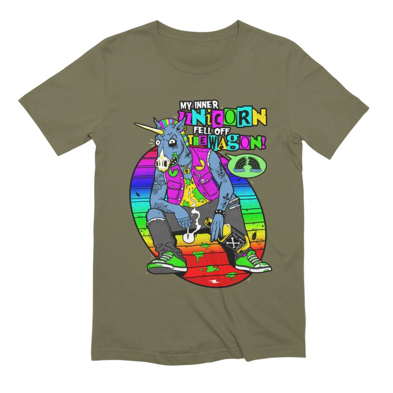 My Inner Unicorn Men's Extra Soft T-Shirt by Rocks Off Designs