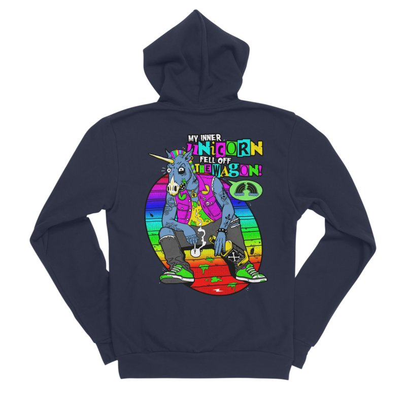My Inner Unicorn Men's Sponge Fleece Zip-Up Hoody by Rocks Off Designs