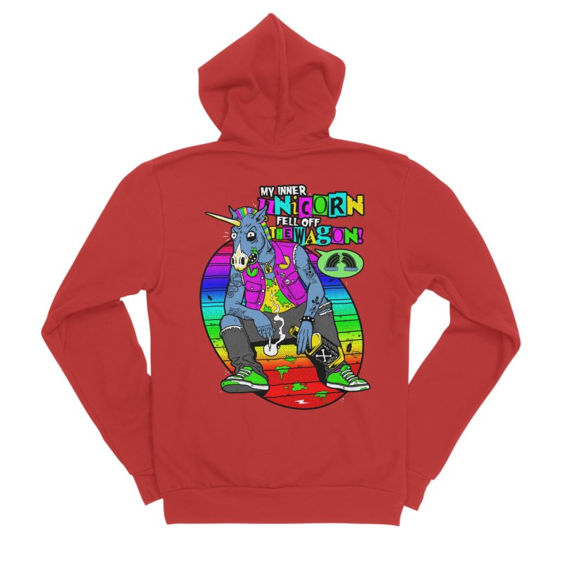 My Inner Unicorn Men's Zip-Up Hoody by Rocks Off Designs