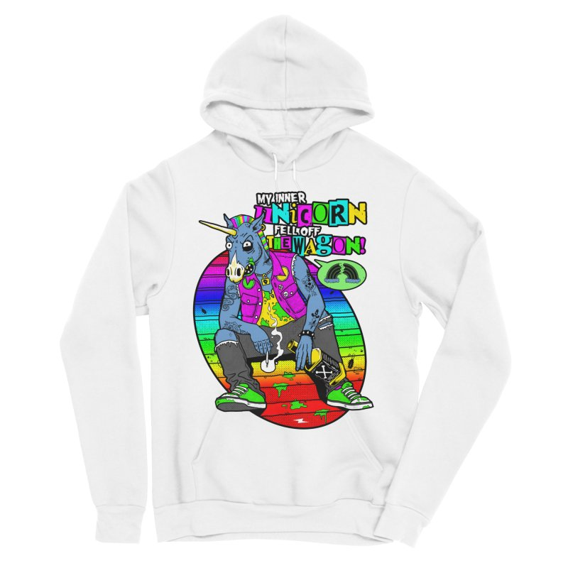 My Inner Unicorn Men's Sponge Fleece Pullover Hoody by Rocks Off Designs