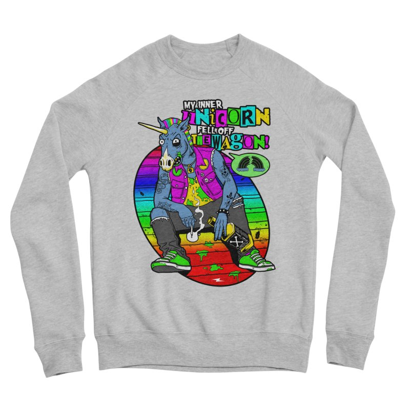 My Inner Unicorn Women's Sponge Fleece Sweatshirt by Rocks Off Designs