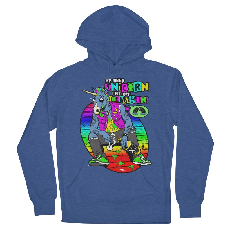 My Inner Unicorn Men's French Terry Pullover Hoody by Rocks Off Designs