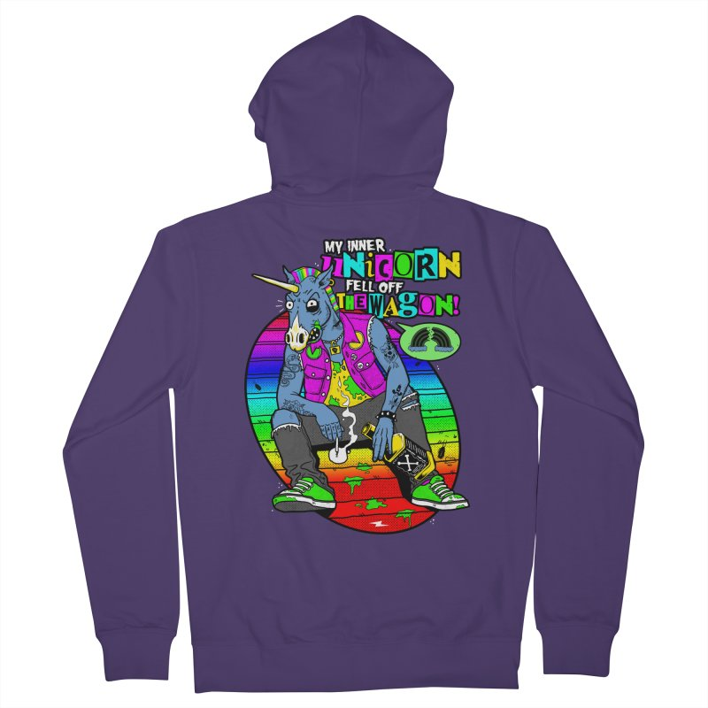 My Inner Unicorn Women's French Terry Zip-Up Hoody by Rocks Off Designs