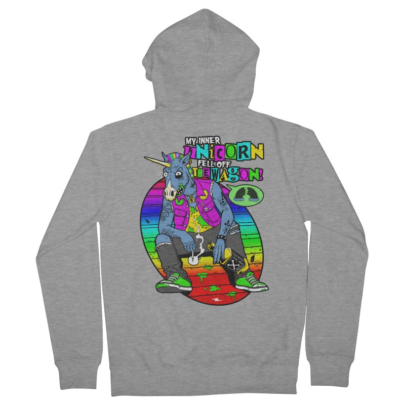 My Inner Unicorn Men's French Terry Zip-Up Hoody by Rocks Off Designs