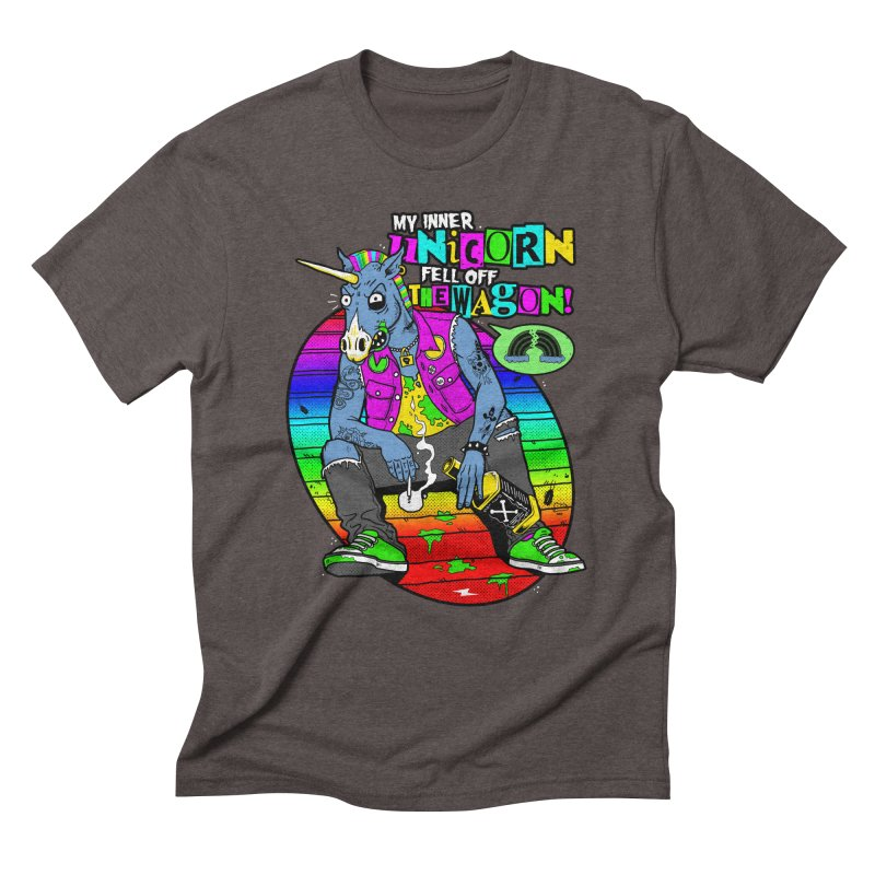 My Inner Unicorn Men's Triblend T-Shirt by Rocks Off Designs