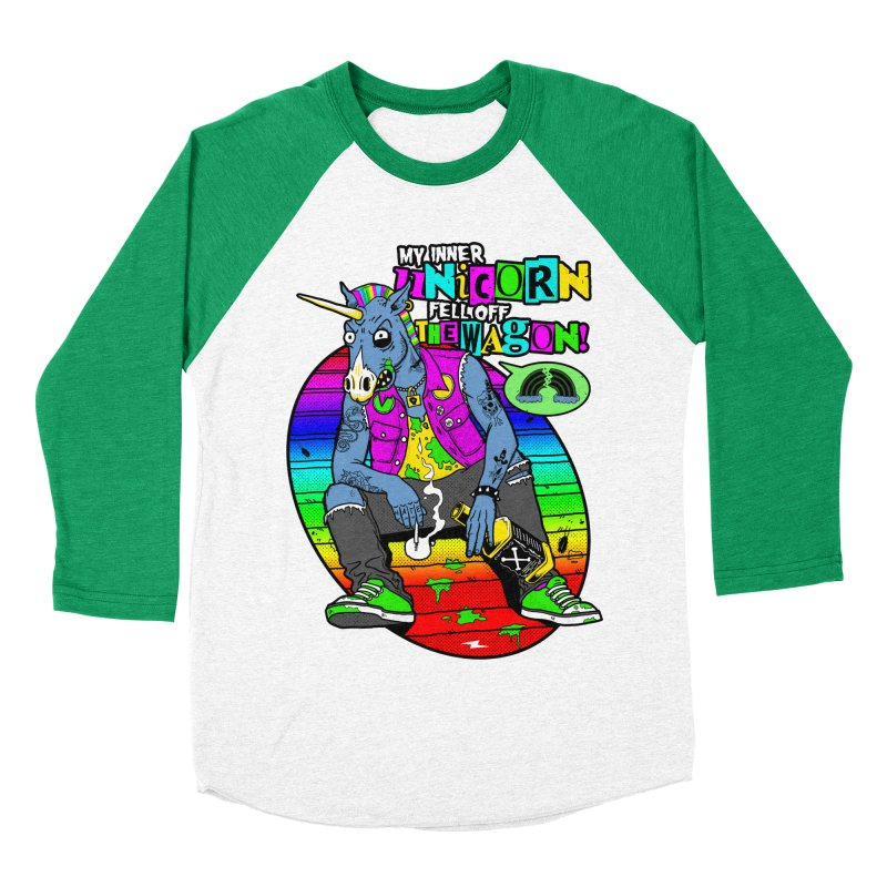 My Inner Unicorn Women's Baseball Triblend Longsleeve T-Shirt by Rocks Off Designs