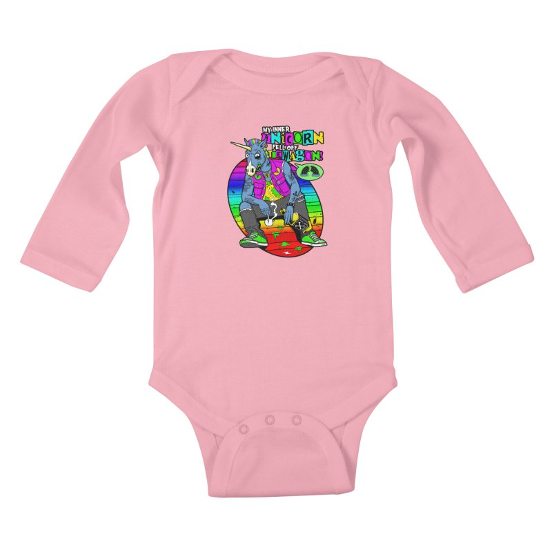 My Inner Unicorn Kids Baby Longsleeve Bodysuit by Rocks Off Designs