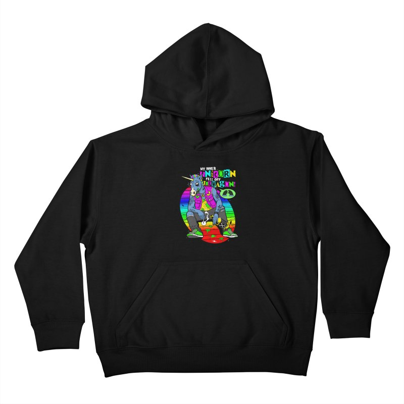 My Inner Unicorn Kids Pullover Hoody by Rocks Off Designs