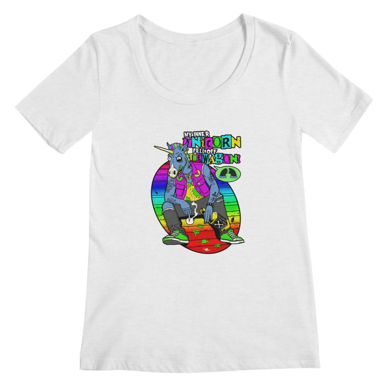 My Inner Unicorn Women's Regular Scoop Neck by Rocks Off Designs