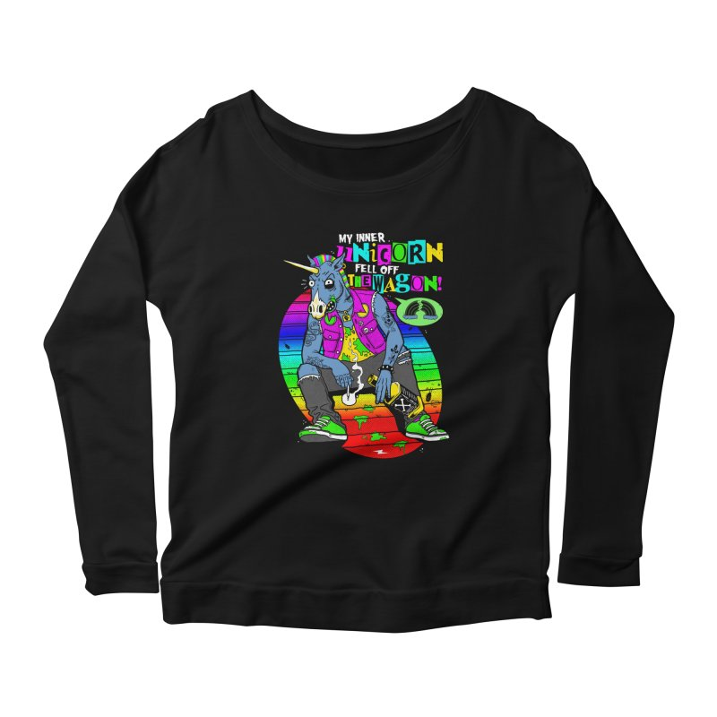 My Inner Unicorn Women's Scoop Neck Longsleeve T-Shirt by Rocks Off Designs