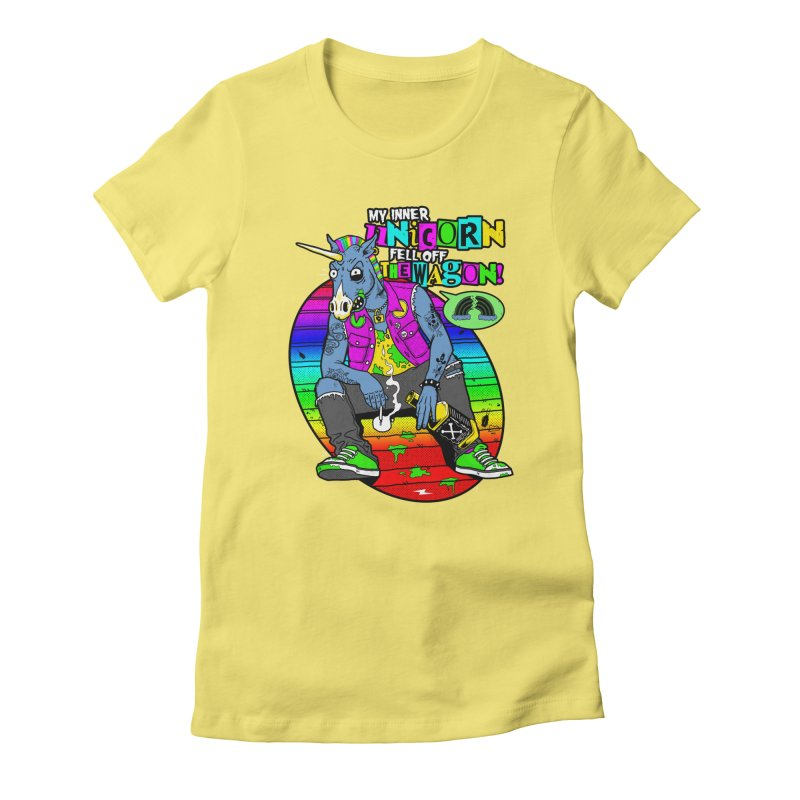 My Inner Unicorn Women's Fitted T-Shirt by Rocks Off Designs