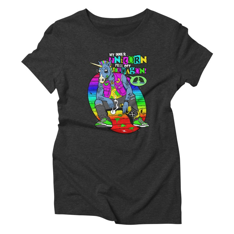 My Inner Unicorn Women's Triblend T-Shirt by Rocks Off Designs