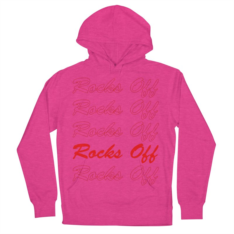 Rocks Off script Men's French Terry Pullover Hoody by Rocks Off Designs
