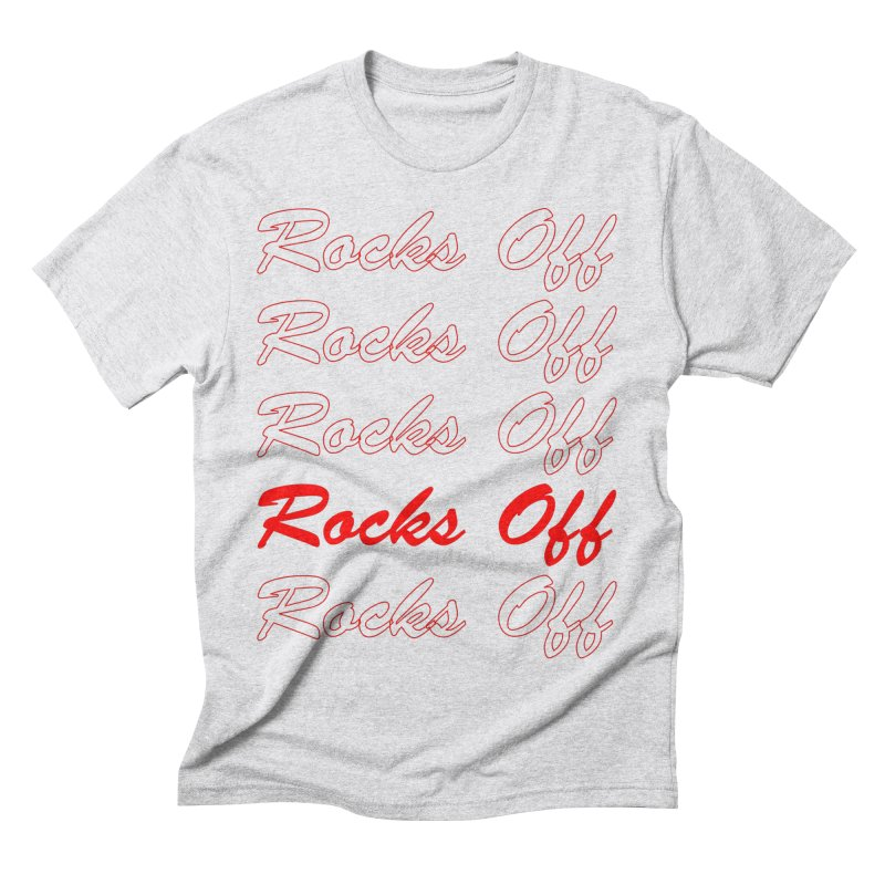 Rocks Off script Men's Triblend T-Shirt by Rocks Off Designs