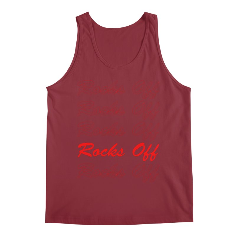Rocks Off script Men's Tank by Rocks Off Designs