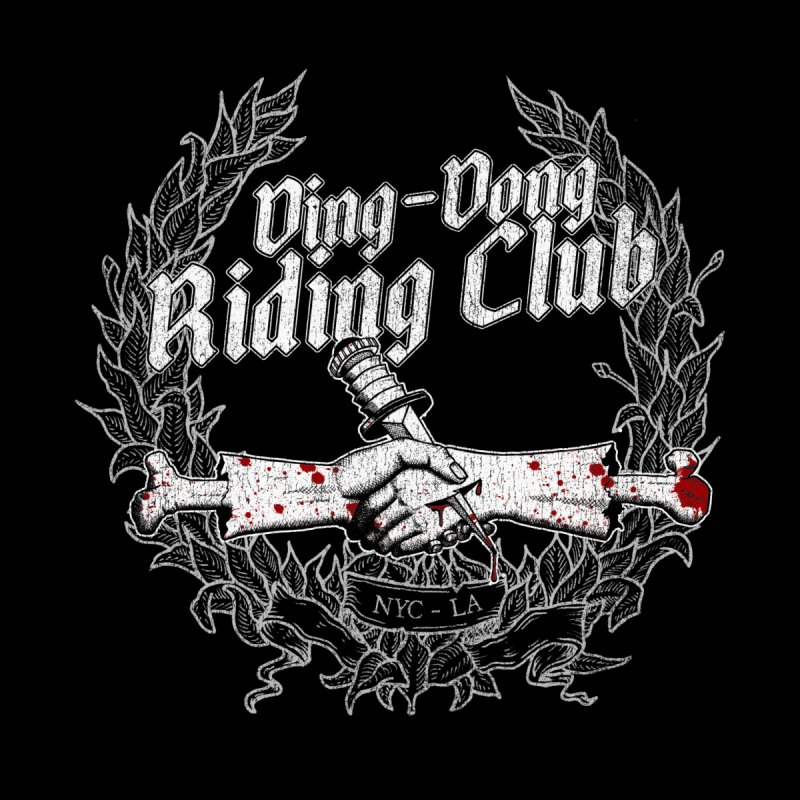 Ding-Dong Riding Club Kids Toddler Zip-Up Hoody by Rocks Off Designs