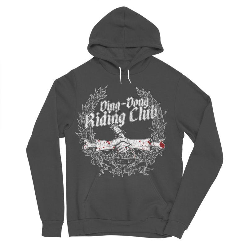 Ding-Dong Riding Club Women's Sponge Fleece Pullover Hoody by Rocks Off Designs