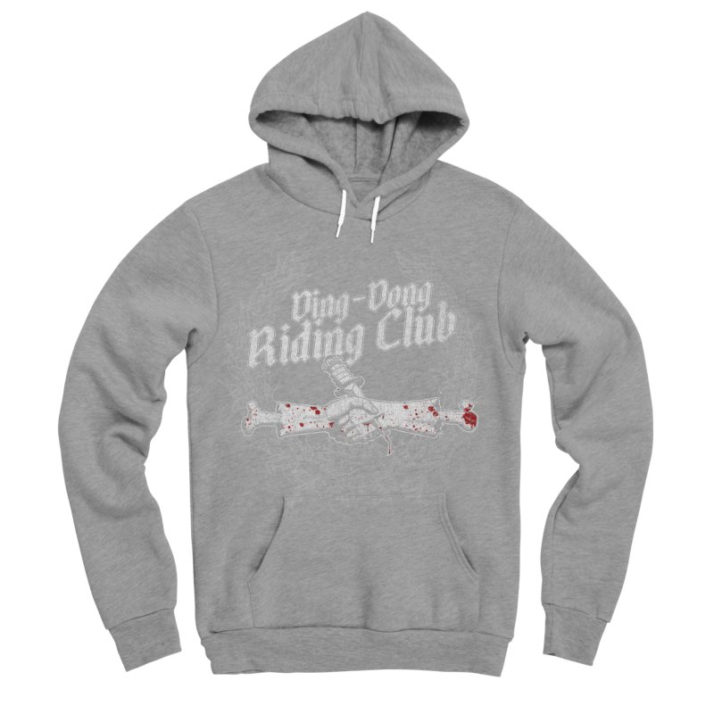 Ding-Dong Riding Club Men's Sponge Fleece Pullover Hoody by Rocks Off Designs