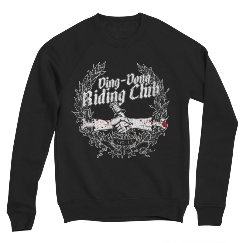 Ding-Dong Riding Club Men's Sponge Fleece Sweatshirt by Rocks Off Designs