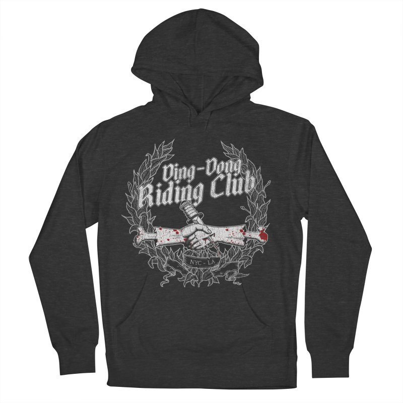 Ding-Dong Riding Club Men's Pullover Hoody by Rocks Off Designs