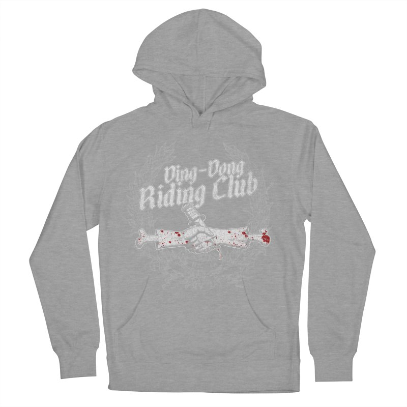 Ding-Dong Riding Club Men's French Terry Pullover Hoody by Rocks Off Designs