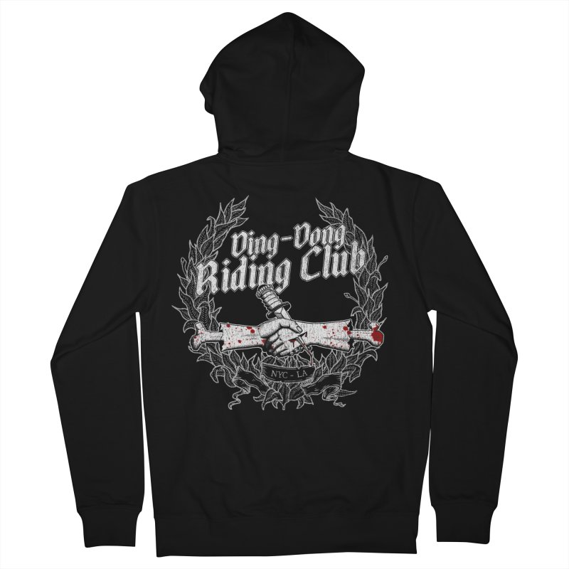 Ding-Dong Riding Club Women's French Terry Zip-Up Hoody by Rocks Off Designs