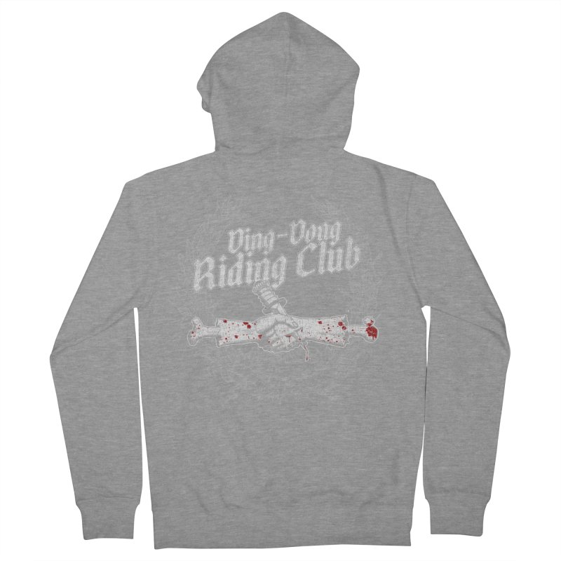 Ding-Dong Riding Club Men's French Terry Zip-Up Hoody by Rocks Off Designs