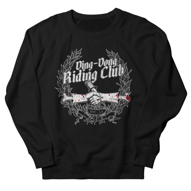 Ding-Dong Riding Club Women's French Terry Sweatshirt by Rocks Off Designs
