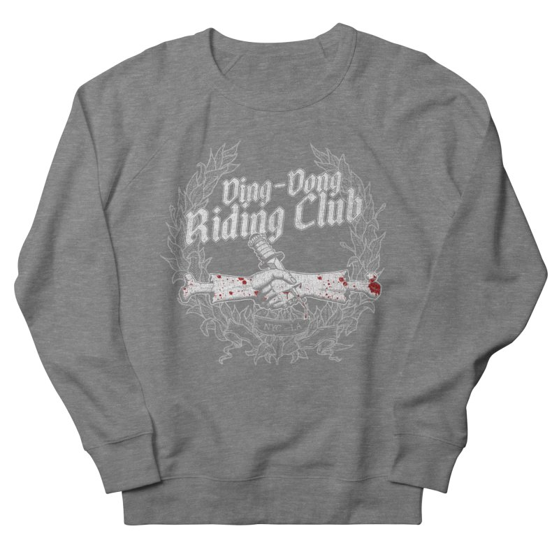 Ding-Dong Riding Club Men's French Terry Sweatshirt by Rocks Off Designs