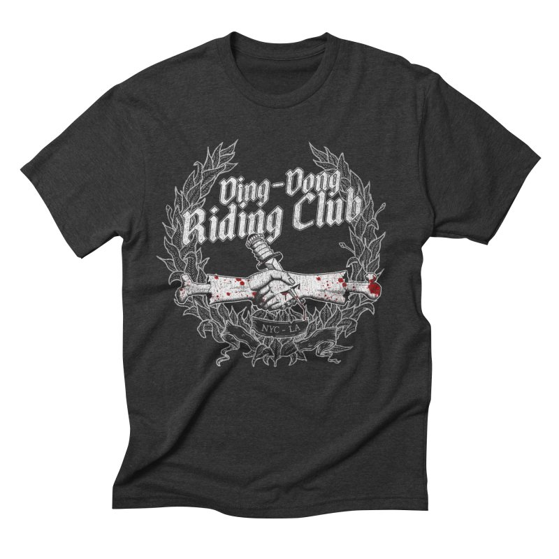 Ding-Dong Riding Club Men's Triblend T-Shirt by Rocks Off Designs