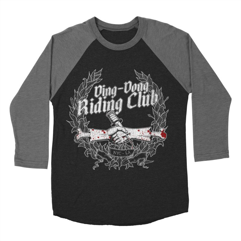 Ding-Dong Riding Club Women's Baseball Triblend Longsleeve T-Shirt by Rocks Off Designs