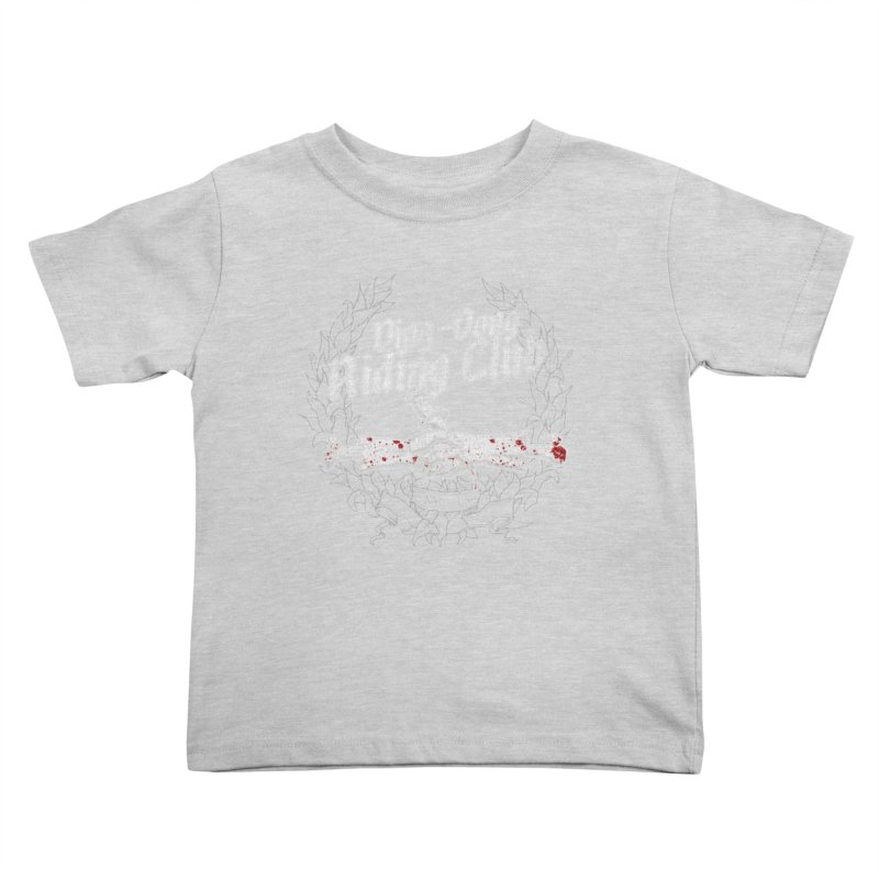 Ding-Dong Riding Club Kids Toddler T-Shirt by Rocks Off Designs
