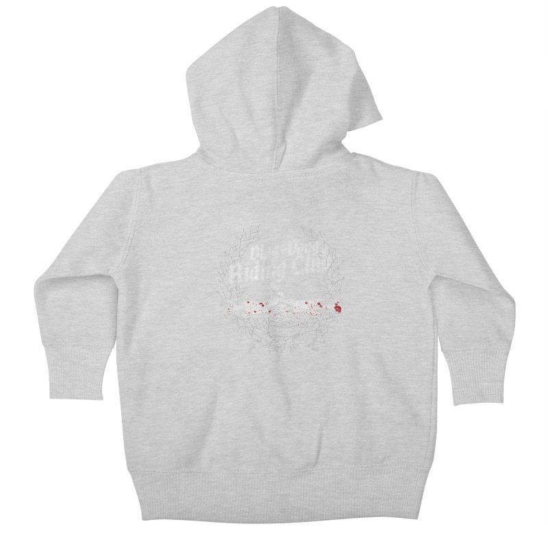 Ding-Dong Riding Club Kids Baby Zip-Up Hoody by Rocks Off Designs