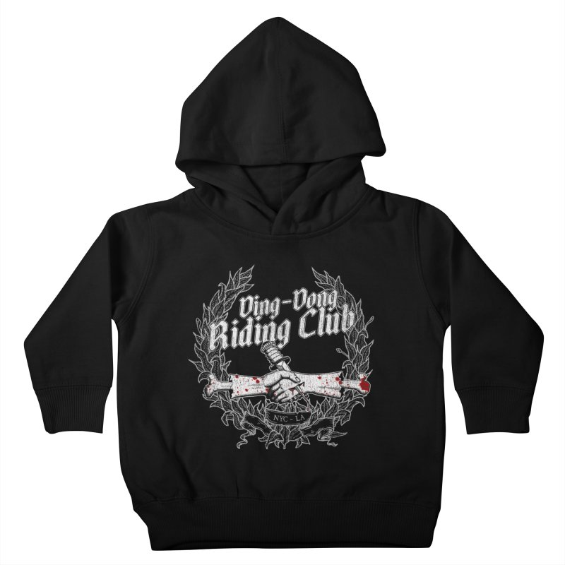 Ding-Dong Riding Club Kids Toddler Pullover Hoody by Rocks Off Designs