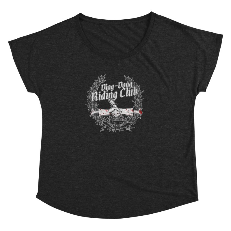 Ding-Dong Riding Club Women's Dolman Scoop Neck by Rocks Off Designs