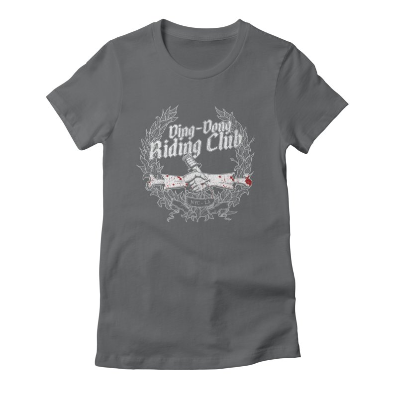 Ding-Dong Riding Club Women's Fitted T-Shirt by Rocks Off Designs