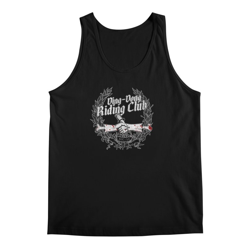 Ding-Dong Riding Club Men's Regular Tank by Rocks Off Designs