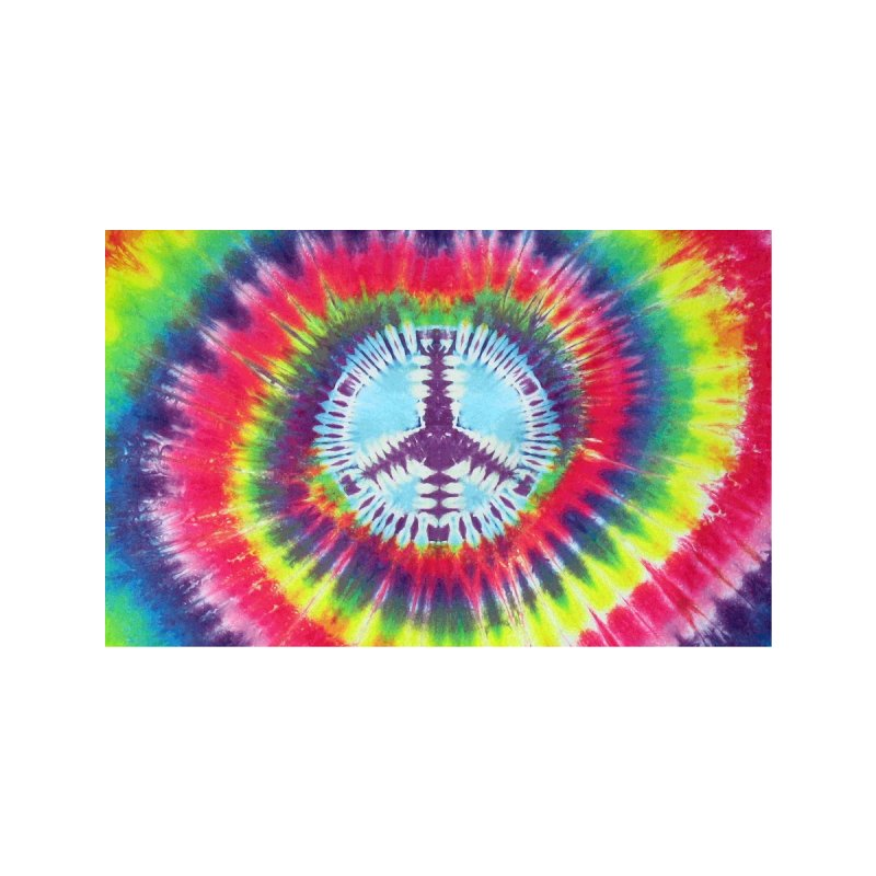 PEACE TIE DYE Accessories Face Mask by Rocks Off Threads