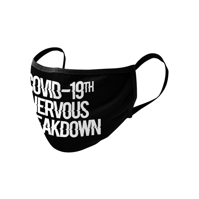 19th NERVOUS CORONA BREAKDOWN Accessories Face Mask by Rocks Off Threads