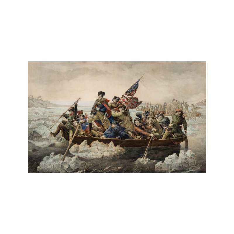 CROSSING THE DELAWARE Accessories Face Mask by Rocks Off Threads