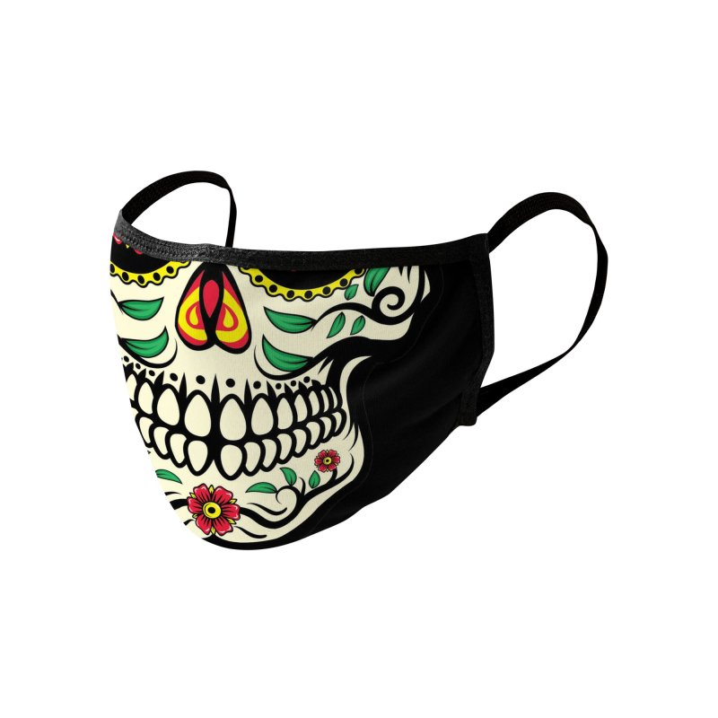 SUGAR SKULL Accessories Face Mask by Rocks Off Threads