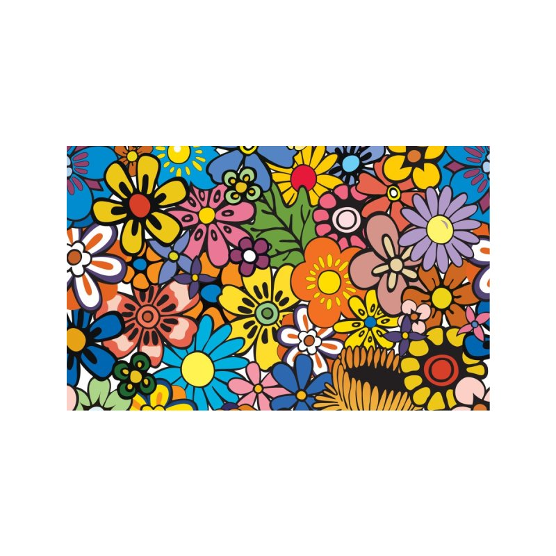 FLOWER POWER Accessories Face Mask by Rocks Off Threads