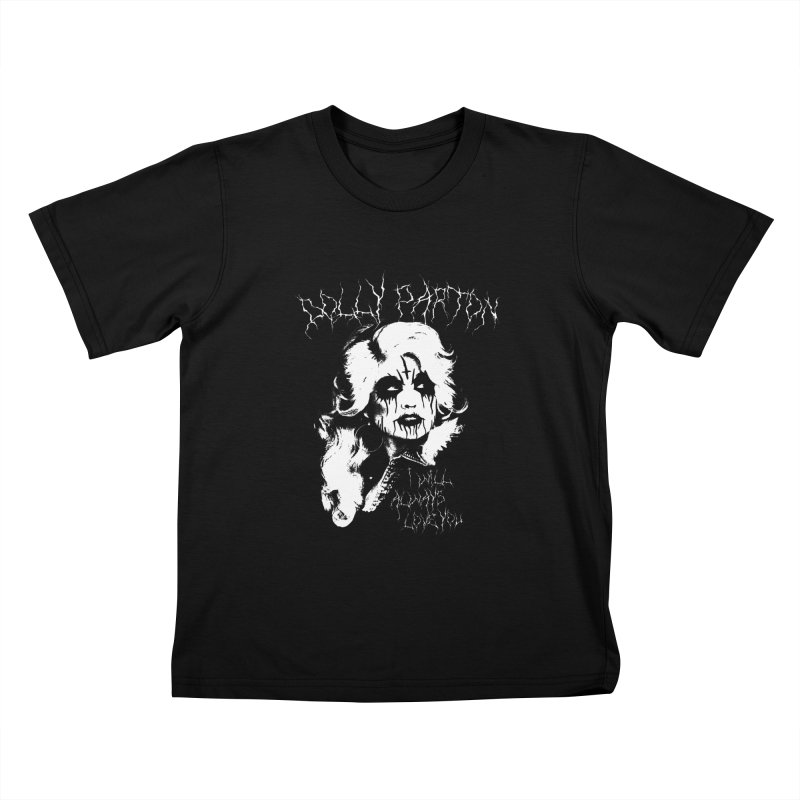 BLACK METAL DOLLY Kids T-Shirt by Rocks Off Threads