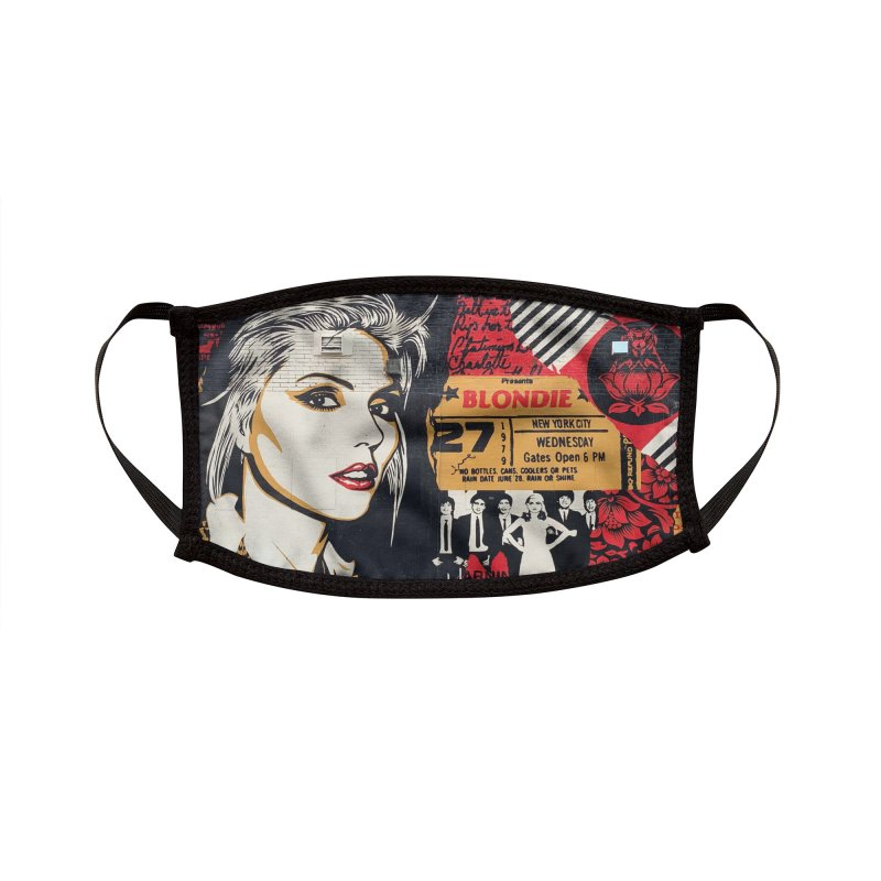 BLEECKER BLONDIE  MURAL Accessories Face Mask by Rocks Off Threads
