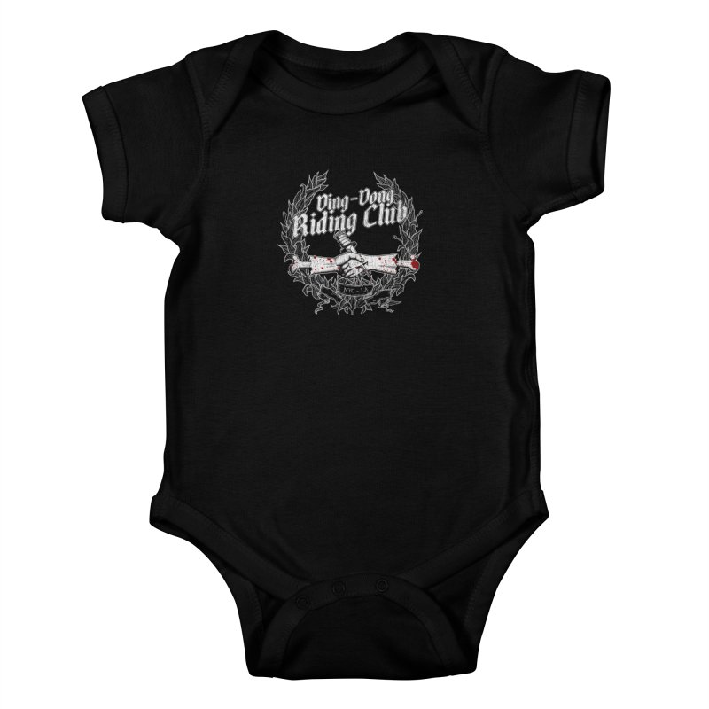 DING DONG RIDING CLUB Kids Baby Bodysuit by Rocks Off Threads